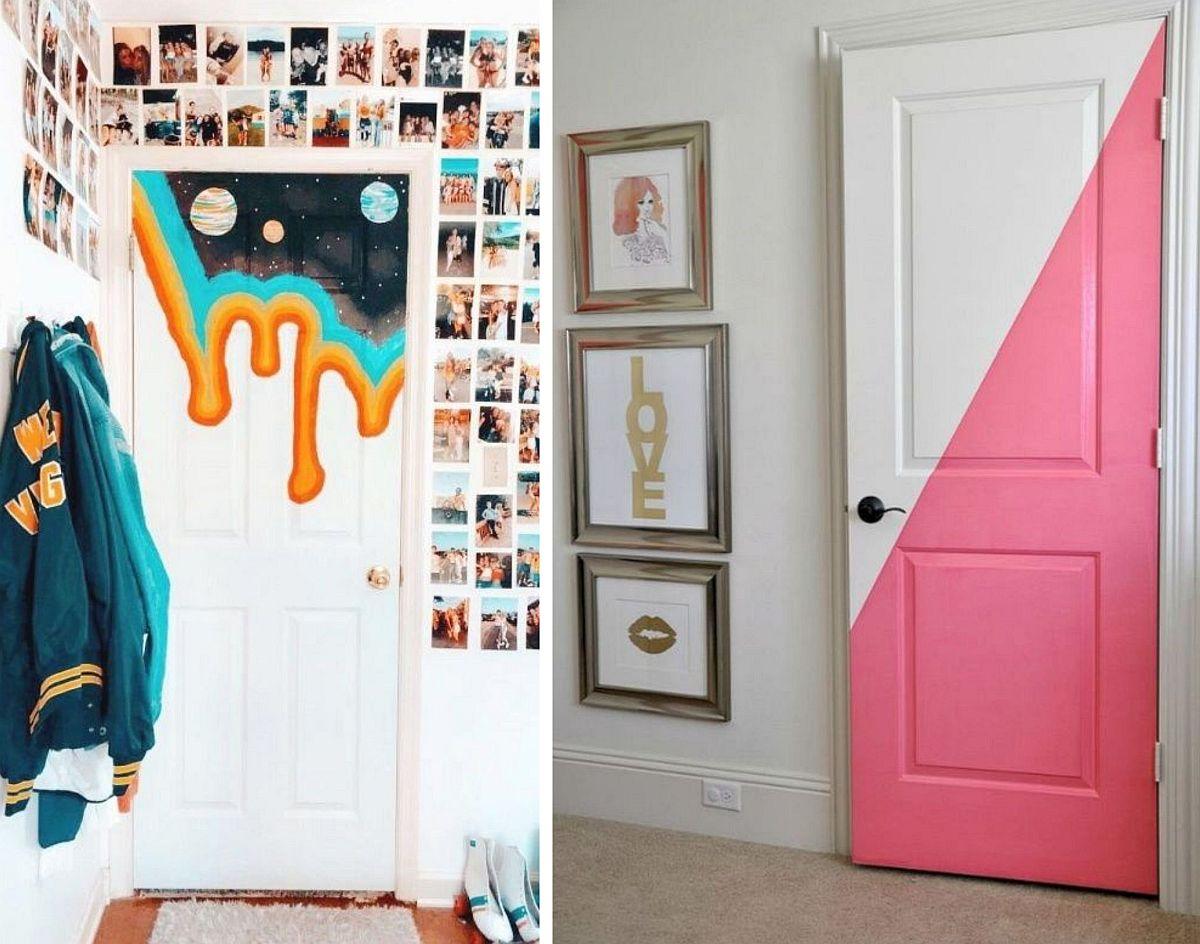 Imagine sfat: Cea mai la îndemână transformare este vopsirea ușii