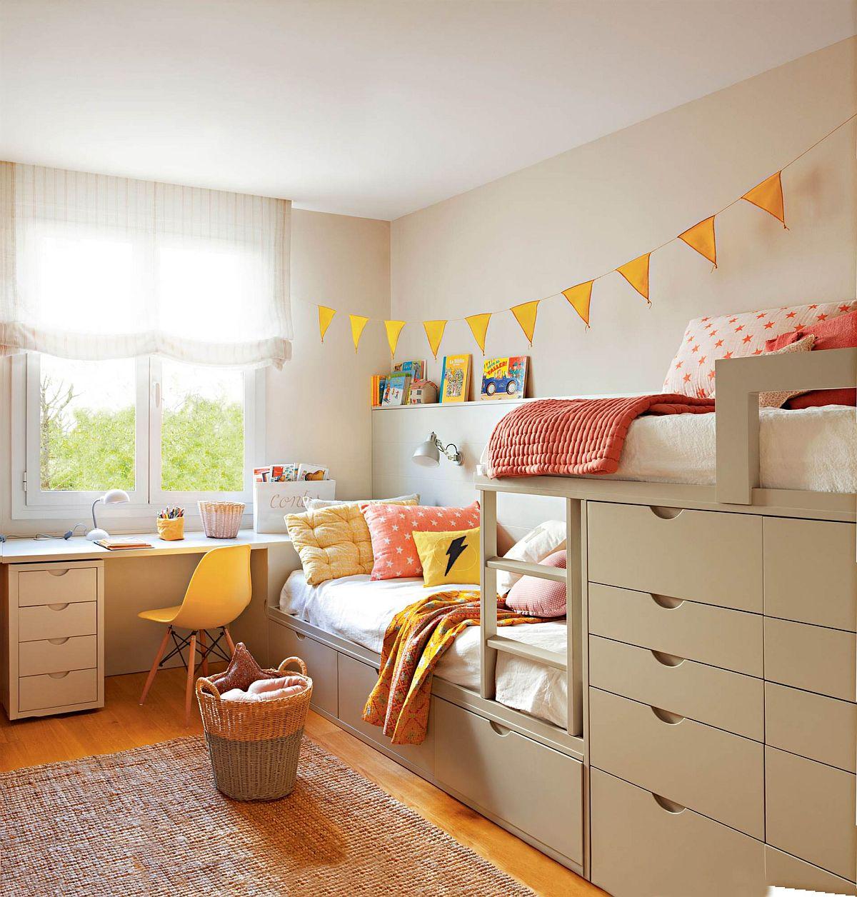 Imagine sfat: Cameră mică pentru doi copii de același sex