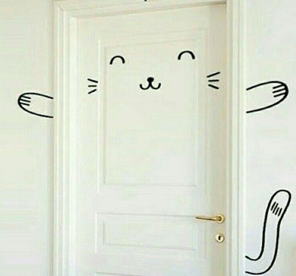 Imagine sfat: Ușa poate fi decorată și în afara foii de ușă